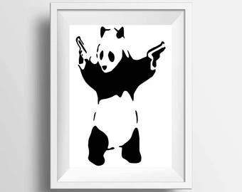 Banksy Panda poster print