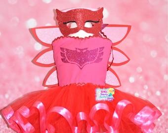 Inspired by Owlette Pj MaskTutu Dress/Pj Mask Costume/Owlette Costume/Owlette Dress/Toddler Halloween Costume/Pageanf Wear/Halloween Tutu