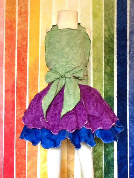 Fairy Dress Up Apron, Purple, Blue, Disney Vacation Outfit, Birthday Dress, Kids Dress up, Fairy Dress, Halloween Costume, Princess Dress