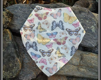 Adjustable Butterfly Bandanna Bib for Teens and Adults