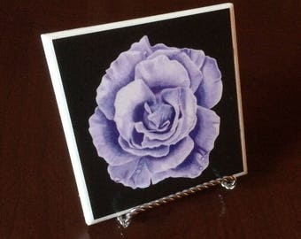 Rose Coaster (purple, blue, pink, or yellow)