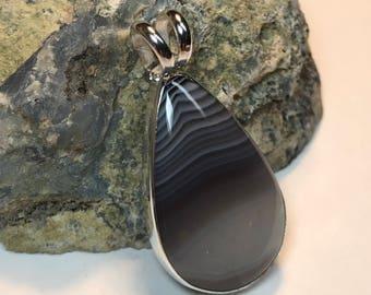 Botswana Agate Custom Setting Pendant