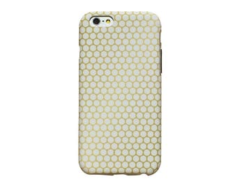 Gold circle pattern phone case for an iPhone 6 or iPhone 6 Plus