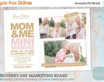 ON SALE Mother's Day Template Mini Session - Photoshop Template IM011 - Instant Download