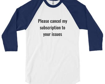 Men's 3/4 sleeve raglan shirt, funny t-shirt