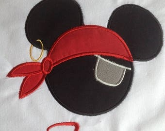Disney Pirate Mickey with Eye Patch - Personalized - Youth