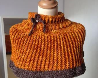 Orange Poncho