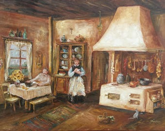 Print On Canvas / Old Farmhouse Kitchen