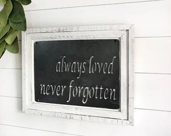 Barnwood and Steel quote sign