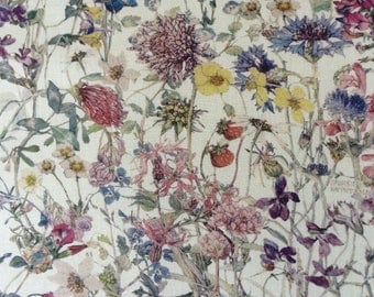 WILD FLOWERS 1.00 YARD by Liberty on Tana Lawn cotton     (36 ins x 54 ins)