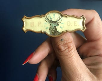 Antique Fraternal Member B.P.O.E. Pin Badge In Memoriam Benevolent and Protective Order of Elks