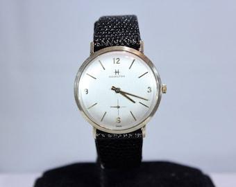 Vintage 1960 Men's Hamilton 14K Solid Gold Mechanical Watch