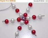 15%OFF Red Pearl and White Pearl Christmas Ornament