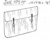 Vegan Sleeves Set Willow in Teal on Black, Laptop Bag, Hard-Drive Bag, Notebook & Charger Case Set ecofriendly