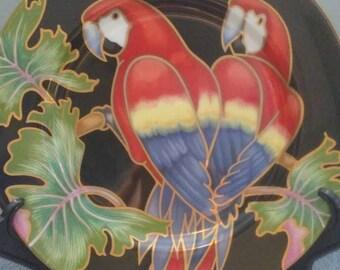 Fitz & Floyd Jungle Parrots plate