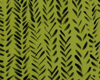 Treasure Hunt by Marcia Derse Summer Arrow Green with Black 43190-18 Fabric BTY