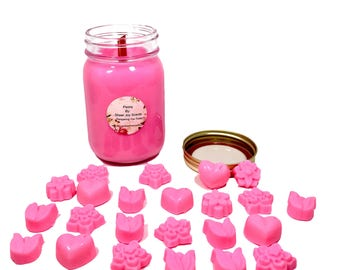 Peony Soy Wax Collection, Floral Scent, Gift For Her, Peony Flower, Botanical Scented, Candle and Melts