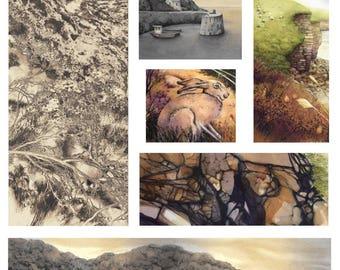 "Welsh seashore print | Watercolours of Wales | Fine Art Print | 6"" x 8.5"" | Pembrokeshire coast art | Welsh landscape painting | Seascape"