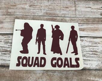 Squad Goals Good Side Jedi Star Wars Vinyl Decal Car Laptop Wine Glass Sticker