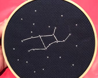Virgo Constellation Cross Stitch - MADE TO ORDER