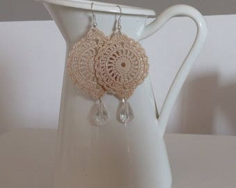 India Earrings Beige