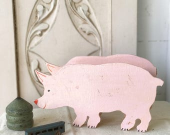 A lovely wooden French handmade piggy bank
