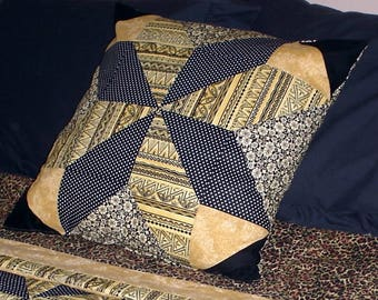 Pillow Goes with King size Large Star Quilt