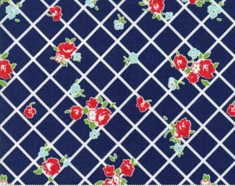 The GOOD LIFE by Bonnie and Camille for Moda Fabrics Everyday Floral Navy