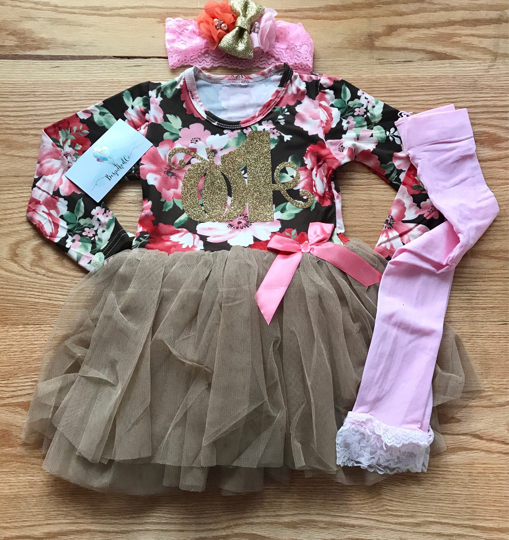 1st Birthday Dress Baby Girl 1st Birthday Outfit Winter