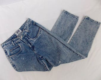 """Calvin """"Wash Outs"""" 1980's Acid Wash Denim High Waisted Jeans"""