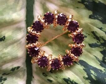 Amethyst Wreath Brooch