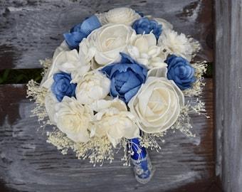Wedding Bouquet Blue Bouquet Electric Blue Bouquet Sola Bouquet Baby Blue Bouquet Royal Blue Bouquet Sola Flower Blue Sola Bouquet