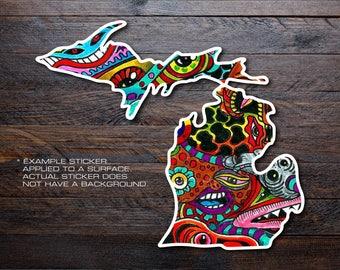 Michigan Mitten Vinyl Decal Sticker A15