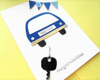 Driving test card, congratulations card, well done card, passed driving test, new driver card, greeting card, you passed card, you passed