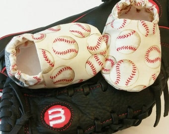 Baby Booties, Baby Gifts, Baby Slippers, Sports Baby Shoes, Baby Mocc, Baby Shoes, Baseball Slippers, Baseball Baby Slippers, Baseball Shoes