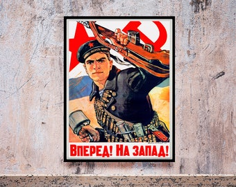 Reprint of a Russian WWII Propaganda Poster
