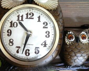 Vintage Owl Decor, Owl Clock, Owl Wall Decor, Owl Home Decor, Owl Decorations