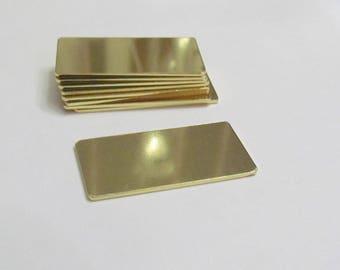 3/4 x 1 1/2 -Brass Blanks - 18 Gauge - Premium Blanks - Stamping Blanks - Pendant Blanks - bracelet blanks - Hand stamping metal Blanks