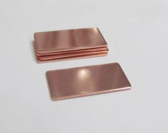 3/4 x 1 1/2 -Copper Blanks - 18 Gauge - Premium Blanks - Stamping Blanks - Pendant Blanks - bracelet blanks - Hand stamping metal Blanks