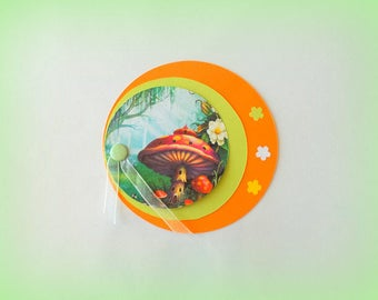 "set of 10 original birth ""enchanted forest"" themed invitation"