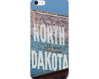 iPhone 5/5s/Se, 6/6s, 6/6s Plus Case - Red Silo Original Art - North Dakota Building