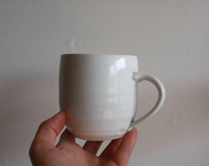 Coffee Mug - Pocelain White - KJ Pottery