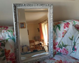 Large Vintage Painted Shabby Chic Mirror