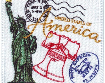 USA / America Stamp Embroidered Patch
