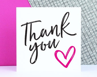 Thank you card, thanks, wedding thank you card, bulk wedding card, bridesmaid card, thanks for coming card