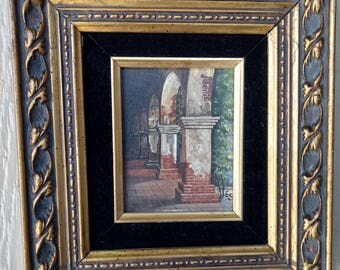 Vintage Listed Artist Signed Eugene Schmidt San Juan Capistrano Acrylic on Board Painting