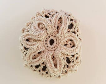 Crochet Rock|Sand Dollar|Crochet Sand Dollar Stone |Sea Life|Lace Crochet| Firefly NC