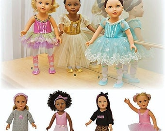 Simplicity 1243- Sewing pattern for 18 Inch Doll Clothes- Fits American Girl Dolls-