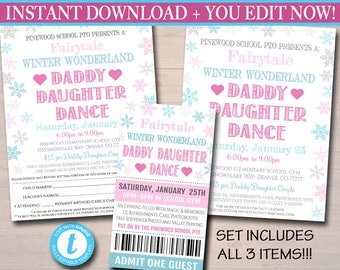 Daddy Daughter Dance Flyer In Dance Recital