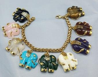 Marie Osmond Never Worn Elephant Charm Bracelet